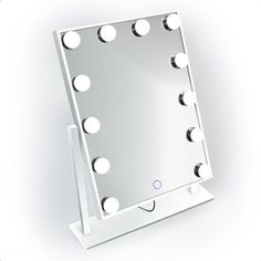 Glam Mirror, Lighted Vanity Mirror, Cool Mirrors, Small Mirrors, Small Vanity Mirror, Vanity Set, Vanity Fair, Makeup Mirror With Lights, Led Mirror Lights