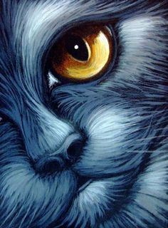Art: BLACK CAT TOPAZ EYES by Artist Cyra R. Cancel
