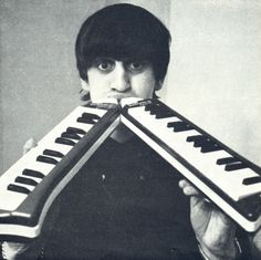 Ringo Starr on the mouth organs