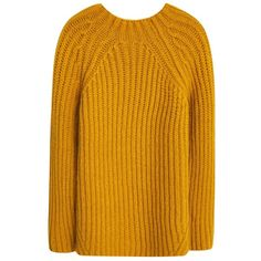 Mango Long Chunky Knit Jumper, Medium Yellow (255 NOK) ❤ liked on Polyvore featuring tops, sweaters, mango sweater, long jumper, long length sweaters, chunky knit sweater and long sleeve tops