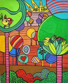 CB556 - 80X100 - ESINT-TELA Diy Tree Painting, Color Me Mine, Arte Pop, Art School, Planner Stickers, Wall Murals, Photo Art, Folk Art, Diy And Crafts