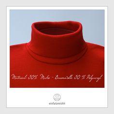 Rollkragen - Farbe: rot - Krageneinsatz, Betrügerle, Rollkrageneinsatz Ein nützlicher Begleiter nicht nur an kalten Tagen ... Anbieter: EINFALZREICHH
