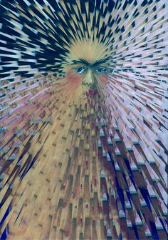 Frida Kahlo---Portraits exploding (with glue and scissors made by Lola Dupre)