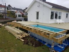 Backyard Pool Designs, Swimming Pool Designs, Patio Design, Diy Pool, Pool Spa, Homemade Swimming Pools, Ideas De Piscina, Piscine Diy, Above Ground Pool Landscaping