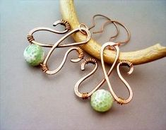 Wire Wrapped Earrings Hammered Copper and by GearsFactory on Etsy, €15.00 by desislava.taneva.391
