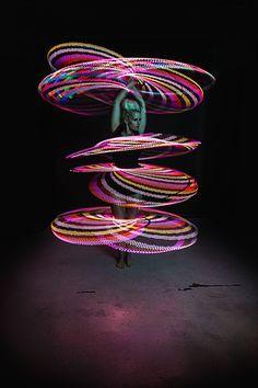 Spinning Multiple LED Hoops with Lisa Lottie | hooping.org