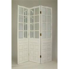 Mirrored French Door Room Divider