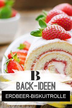 Obstkuchen: Unsere besten Rezepte. Erdbeeren ganz süß beschwipst: unsere Erbeer-Biskuitrolle ist mit Likör verfeinert. Mit unseren Tipps für Biskuitrolle gelingt sie dir ganz sicher auch! Zum Rezept: Erdbeer-Biskuitrolle.