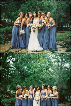 Fall wedding with gray bridesmaids dresses at Hunter Valley Farm. Flowers by Swank Floral.
