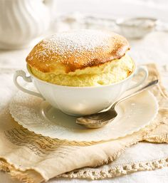 Orange and lemon soufflé Soufflé is a surprisingly easy dessert to make and this citrus inspired one is the perfect sweet treat to end your meal. *Seven ways with winter fruits Easy To Make Desserts, Mini Desserts, Delicious Desserts, Yummy Food, Lemon Souffle Recipe, Dessert Drinks, Dessert Recipes, Pastry Recipes, Cooking Recipes