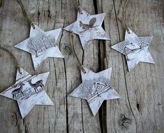 Christmas Ornaments Stars Star Ornaments Holiday by ForesteDiOro