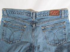 Low Waist Boot Cut Calvin Klein Jeans Denim Blue Jeans Wonderful Vintage Condition Women sz 10 ReVintageBoutique.Etsy.com