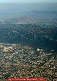 Arial view of Islamabad