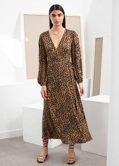 Leopard Print Wrap Dress - Leopard - Midi dresses - & Other Stories Midi Dresses Online, Cashmere Wrap, Linen Dresses, Printed Dresses, Wrap Dresses, Dresses Dresses, Print Wrap, Fashion Story, Floral Maxi Dress