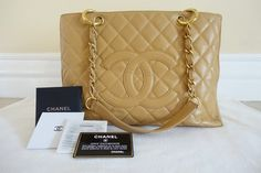 Chanel Grand Shopping Tan Tote Bag. Get one of the hottest styles of the season! The Chanel Grand Shopping Tan Tote Bag is a top 10 member favorite on Tradesy. Save on yours before they're sold out!