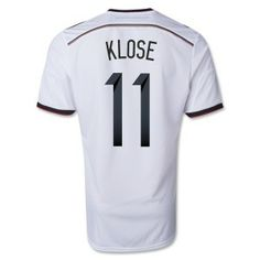Klose 2014 World Cup Home Soccer Germany White Football Jersey #worldcupjerseys