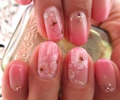 cherry blossoms nail