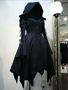 Hooded Black Cloak Horrific Finds/ in case you need to spear to be a decantor