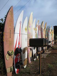 surfboards in Pa'ia, Maui