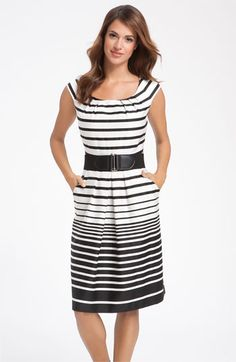 Tahari by Arthur S. Levine Stripe Cotton Dress from Nordstrom. I'm a sucker for stripes