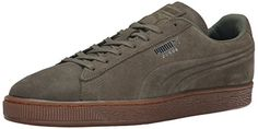 PUMA Suede Emboss Sneaker Burnt OliveGum 115 D US *** More info could be found at the affiliate link Amazon.com on image.