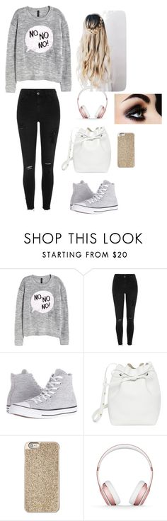 """""""fashion for a monday!🎀🎀😜"""" by theycallmemandy ❤ liked on Polyvore featuring H&M, River Island, Converse, Mansur Gavriel, Michael Kors, Beats by Dr. Dre, monday and wishitwastheweekend"""