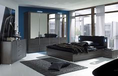 modern bedroom for men black area rug dark wood furniture bedroom furniture ideas
