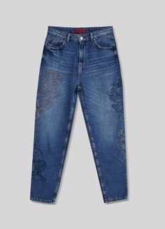 Embroidered jeans - What's new - Clothing - Woman - PULL&BEAR Ukraine