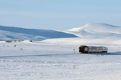 White light: Railway at polar circle, Norway