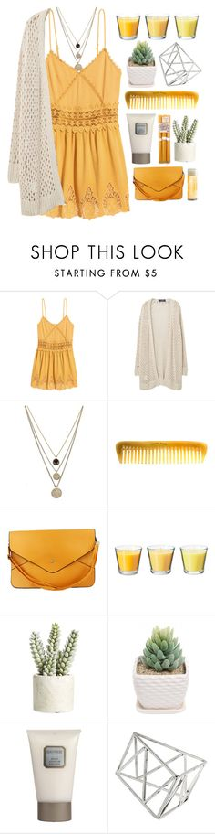 """""""#Jersey Shore"""" by credendovides ❤ liked on Polyvore featuring H&M, Violeta by Mango, LowLuv, Hermès, Allstate Floral, Laura Mercier and Topshop"""