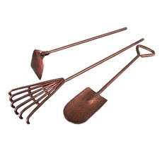Copper Tools - Set of Three - For Fairy Garden