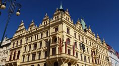 Kings Court Hotel at Republic Square, New Town, Prague Art Nouveau Era. Prague Architecture, Prague 1, Czech Republic, Travel Guide, Art Nouveau, Buildings, Louvre, City, Travel Guide Books