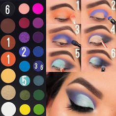 eyeshadow looks james charles palette makeup order makeup tutorial beginners eyeshadow makeup makeup look pink for makeup artist without makeup makeup tips video makeup double layer Eye Makeup Steps, Eye Makeup Art, Blue Eye Makeup, Skin Makeup, Gold Makeup, Makeup Artistry, Make Up Palette, Creative Eye Makeup, Colorful Eye Makeup