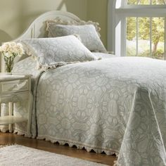 Motivated Vintage Coverlet Silk 1920s Lace Bedspread 65 X 80 Bedspreads & Coverlets