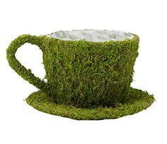 "Lillian Rose Teacup Decoration, 8.25 x 7.5"", Moss Lillian..."
