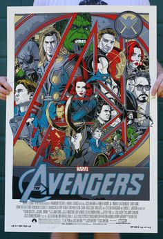 Tyler Stout Avengers poster. Fun poster for a fun movie.