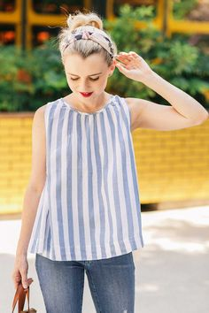 How To Mix Floral and Stripe Prints For Summer - Poor Little It Girl