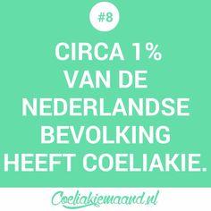 Coeliakie feitje #8: circa 1% van de Nederlandse bevolking heeft coeliakie. Calm