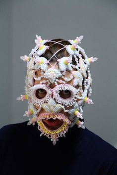 Rave mask festival body jewelry burning man headdress