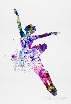 Irina March - Flying Ballerina Watercolor 1 Plakát na AllPosters. Ballerina Kunst, Ballerina Dancing, Ballet Art, Ballet Dancers, Ballerinas, Image Deco, Photo Deco, Dance Paintings, Poster Prints