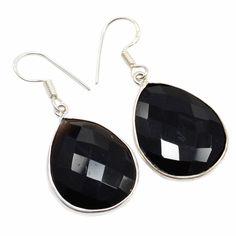 Silvesto India Black Onyx Gemstone 925 Sterling Silver Earrings PG 1481   https://www.amazon.ca/dp/B01EYDVCSC