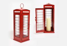 The British red telephone box lantern gift #bestofbritish