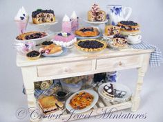 Blueberry dessert table