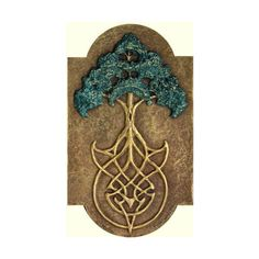 Tree Knot- cast hand made paper Celtic art, tree of life motif with celtic knot work in the roots of a great oak (£59) found on Polyvore