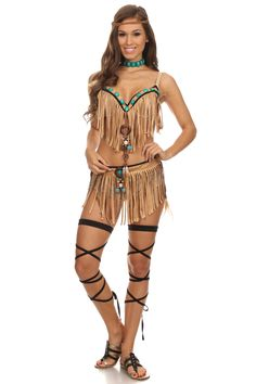 Sexy Pocahontas 3 Piece Set Pocahontas Halloween, Girl Costumes, Costumes For Women, Cosplay Costumes, Diy Fashion, Indian Fashion, Fashion Outfits, Indian Halloween Costumes, Group Costumes