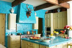 I love floor to ceiling tile in kitchens and baths! Very nice!