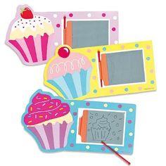 Zaubertafel - Cupcake - Spielzeug für Kinder zum Malen als Mitgebsel und Preis beim Kindergeburtstag - 6 Stück