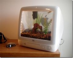 Old computers into Aquariums