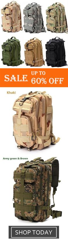 Outdoor Military Rucksacks Tactical Backpack Sports Camping Hiking Trekking Bag – Fitness And Exercises Camping Outfits, Camping Fashion, Camping Style, Camping And Hiking, Bushcraft Camping, Tactical Backpack, Tactical Gear, Trekking, Tactical Clothing