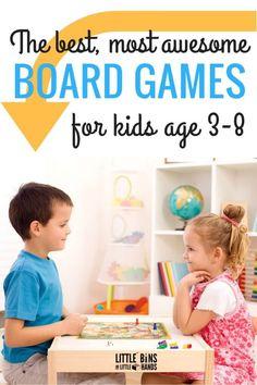 Best Kindergarten and Preschool Board Games for Kids Ages 3-8